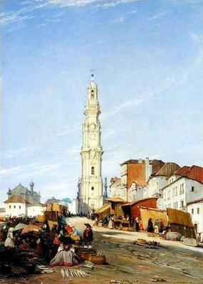 Torre dos Clerigos, Oporto, Portugal, 1837