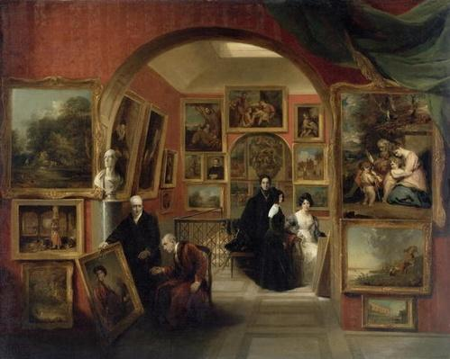 The Interior of the British Institution Gallery, 1829