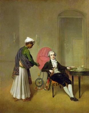 A Gentleman, possibly William Hickey, and his Indian Servant, c.1785