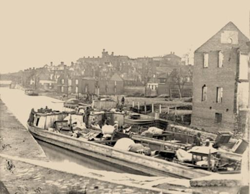 Barges With African Americans On The Canal | Ken Burns: The Civil War