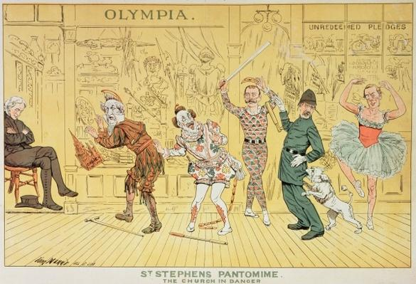 St. Stephen's Pantomime, from 'St. Stephen's Review Presentation Cartoon', 1 January 1887