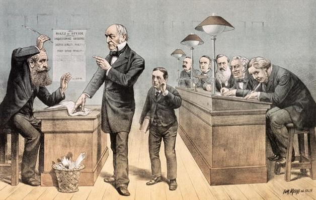 Mr Gladstone and his Clerks, from 'St. Stephen's Review Presentation Cartoon', 1 May 1886