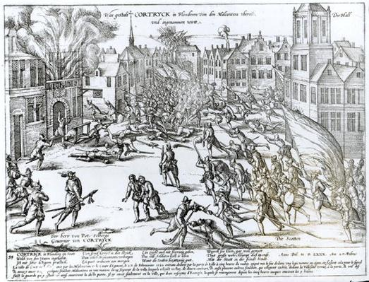 The Battle of Courtrai Between the French and the Flemish, 1580