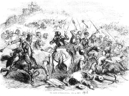 The Battle of Bannockburn in 1314
