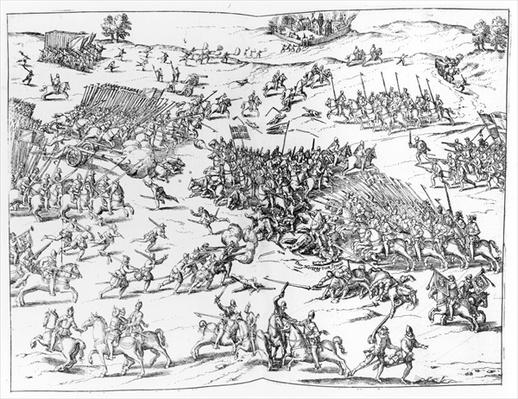 The Battle of Courtrais Between the French and the Flemish in 1580