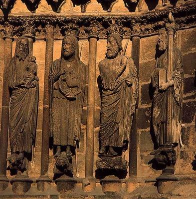 Four figures from the Cathedral facade, c.1230-40