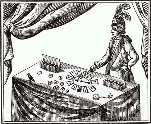 Lane, the Conjurer, Who Appeared at Bartholomew Fair in the Late 18th Century