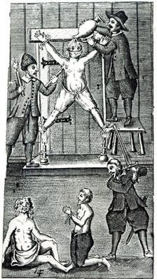 Dutch Settlers at Amboyna Torture an English Merchant