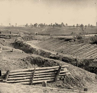 View of Fort Sedgwick, Petersburg, VA | Ken Burns: The Civil War