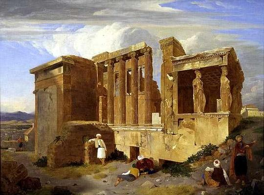 The Erechtheum, Athens, with Figures in the Foreground, 1821
