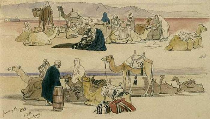 Near Suez, 1pm, 16th January 1849