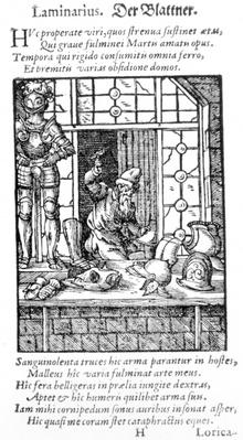 The Armour Maker, engraved by Hartman Schopper