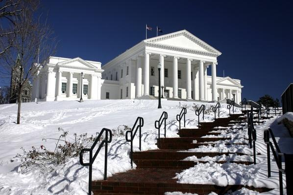 Virginia's Capitol - Winter Scene | Famous American Architecture