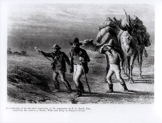 The Return of Burke, Wills, and King to Cooper's Creek, 1st March 1838