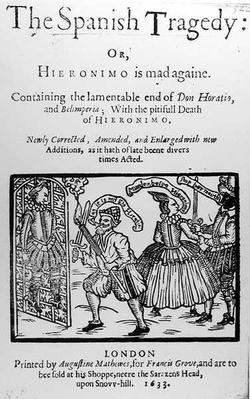 Frontispiece to 'The Spanish Tragedy' by Thomas Kyd
