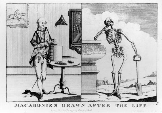 Macaronies Drawn After the Life, pub. by N. Darly, December 1773