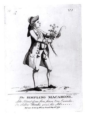 The Simpling Macaroni, pub. by N. Darly, 13 July 1772