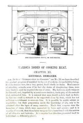 The Leamington Stove, or Kitchener, from Chapter XI of 'Beeton's Book of Household Management' by Isabella Mary Beeton
