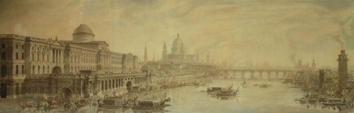 Somerset House, St. Paul's Cathedral and Blackfriars' Bridge