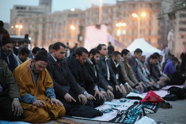 Egyptians Prepare In Tahrir Square For The First Anniverary Of The Revolution | Arab Spring