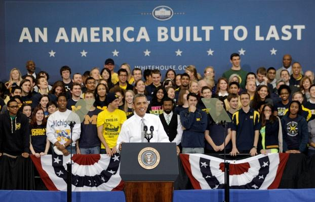 President Obama Speaks At The University Of Michigan | U.S. Presidential Elections 2012