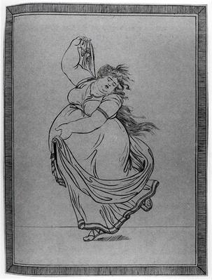 The Muse of Dance, Plate VI from a new edition considerably enlarged, of Lady Hamilton's 'Attitudes', attributed to James Gillray