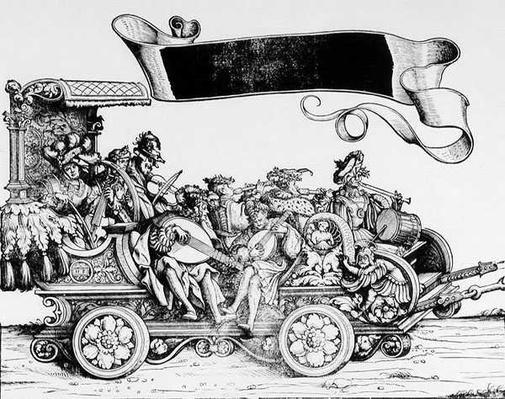 The Musical Entourage, from Maximilian's Triumphal Procession, c.1516-18