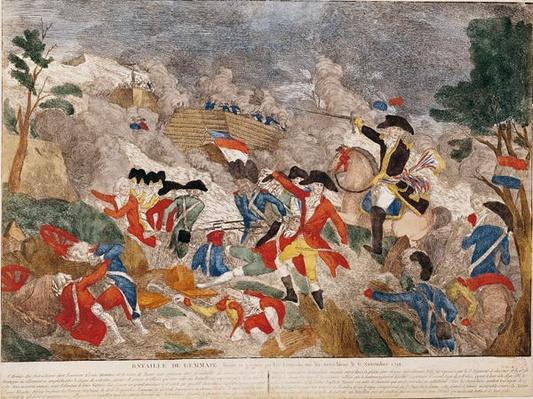 The Battle of Jemmapes, 6th November 1792, printed by Basset
