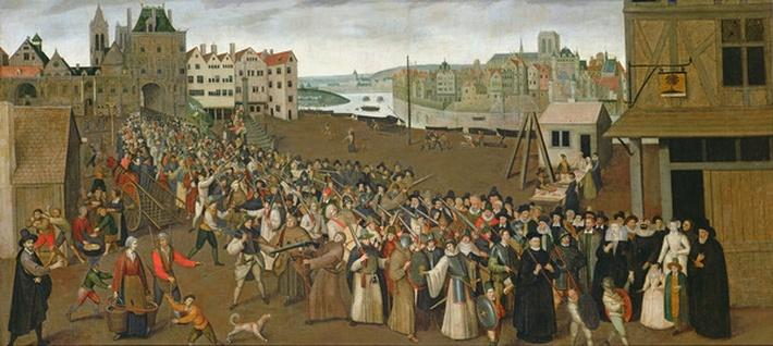 Procession of the Holy League on the Place de Gr�ve, leaving the Saint-Jean Arch, Paris, 1590-3
