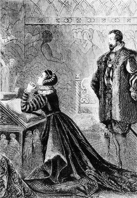 Queen Mary in her Private Oratory
