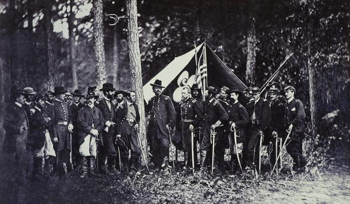 Union Generals Pose With Staff | Ken Burns: The Civil War