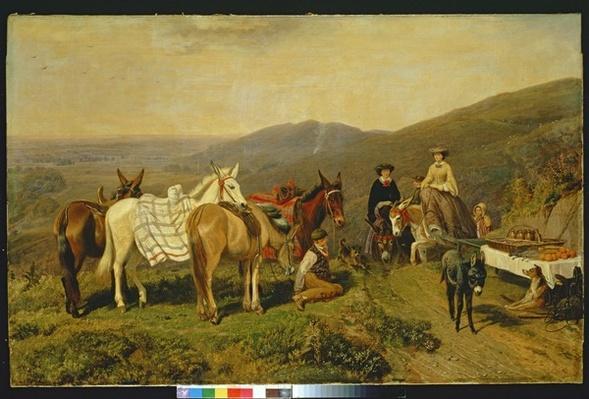 In the Malvern Hills, 1858