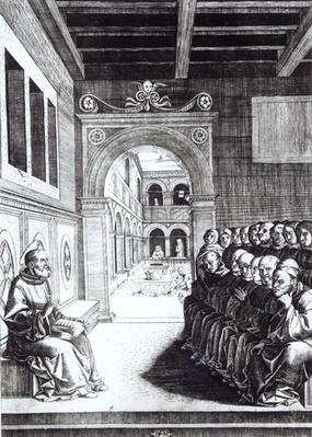 St. Benedict Preaching in the Monastery