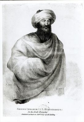 Portrait of Sheikh Ibrahim, or Johann Ludwig Burckhardt