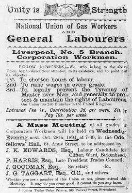 Declaration of the National Union of Gas Workers and General Workers, 1891
