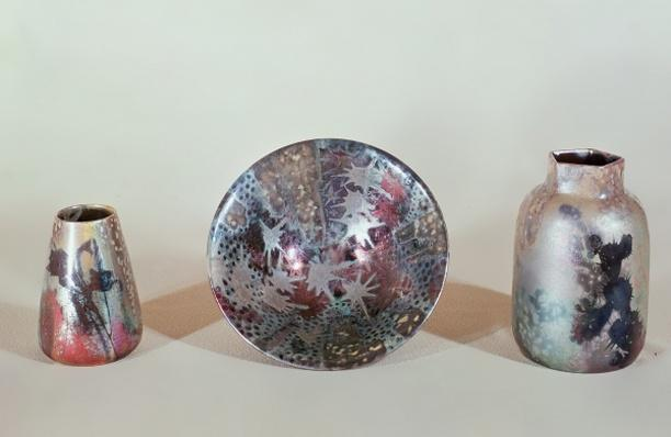 Bowl and vases, c.1890