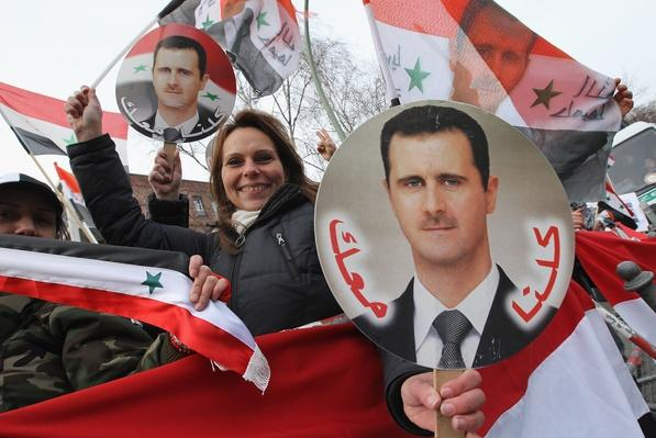 Pro-Assad Demonstration In Berlin | Conflicts: Syria