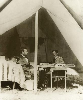 President Lincoln and Gen. George B. McClellan in the General's Tent | Ken Burns: The Civil War