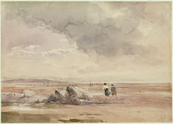 On Lancaster Sands, Low Tide, c.1840-47