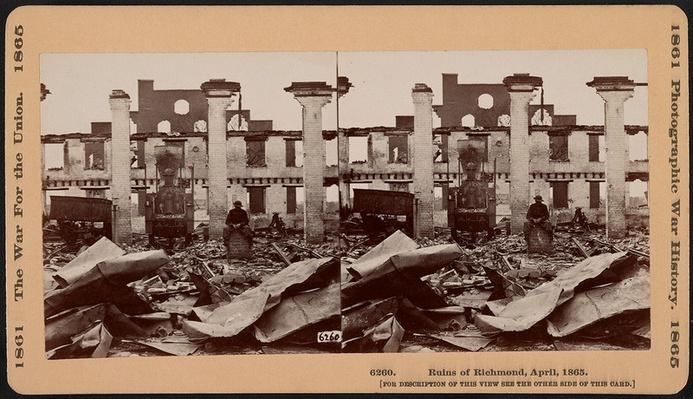 Man Sitting In Richmond Ruins, 1865 | Ken Burns: The Civil War
