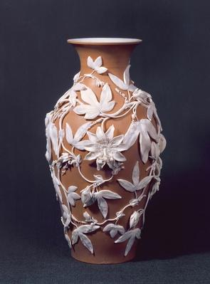 Minton Parian Ware vase, 1894