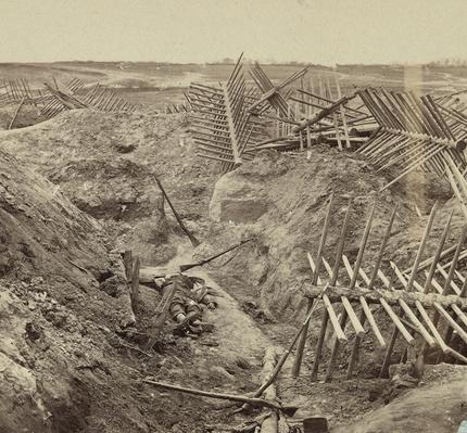 Dead Confederate Soldier in Petersburg Trenches, 1865 | Ken Burns: The Civil War