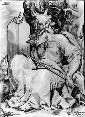 Moses, engraved by Ludwig Businck