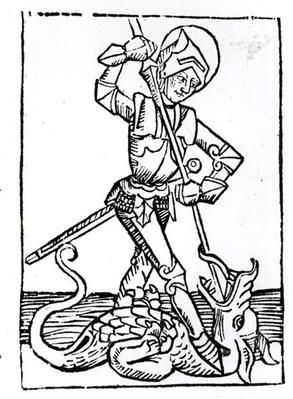 St. George, from the 'Liber Chronicarum' by Hartmann Schedel
