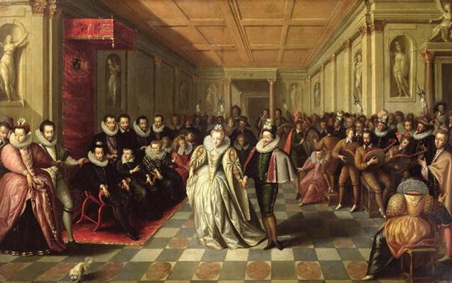 Ball at the Court of Henri III on the Occasion of the Marriage of Anne, Duke of Joyeuse, to Marguerite de Vaudemont, 24th September 1581, c.1581