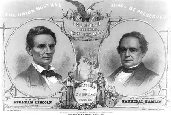Lincoln Hamlin Campaign Poster, 1860 | Ken Burns: The Civil War