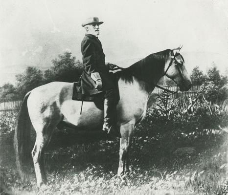 General Robert E. Lee on His War Horse, Traveller | Ken Burns: The Civil War