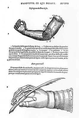 Description of a mechanical iron arm and hand