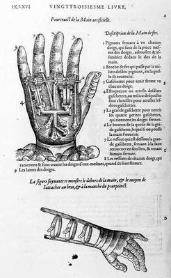 Description of a mechanical iron hand