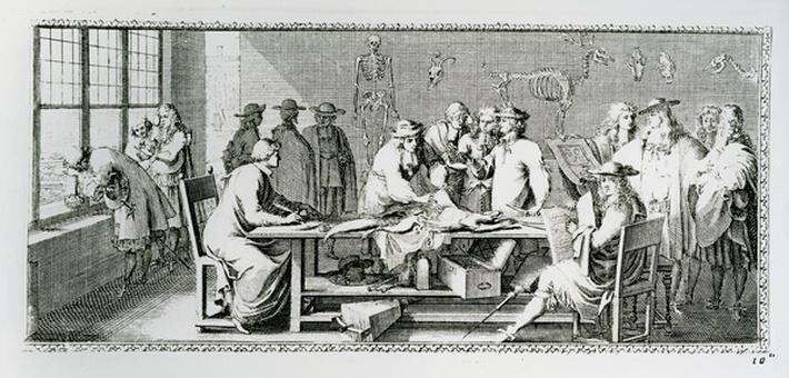 The Anatomy Lesson, from 'Le Clerc Jomberd'